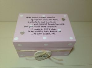 Shabby Personalised Chic Gift For Bride From Bridesmaid Matron Maid Of Honour